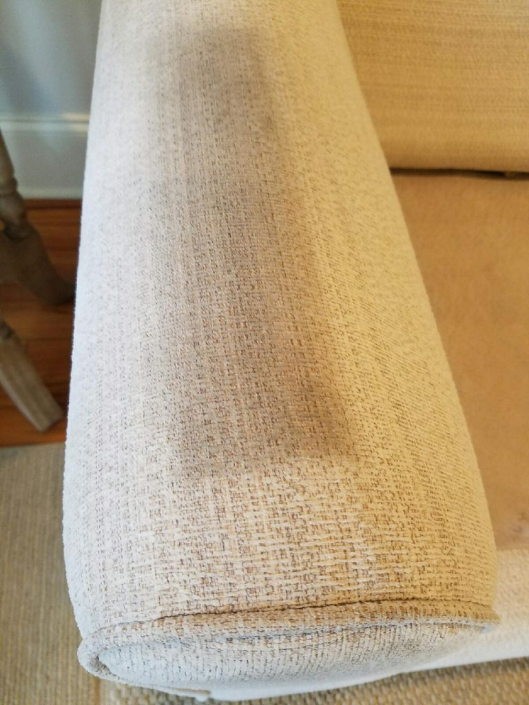 upholstery cleaner results